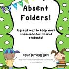 FREE!!! This great freebie helps you to organize and collect important papers for absent students.   These pages are to be printed out and mounted ...