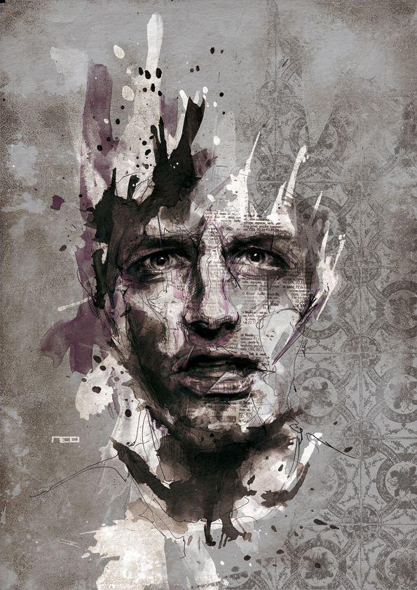 Amazing Portrait Illustrations by Florian Nicolle