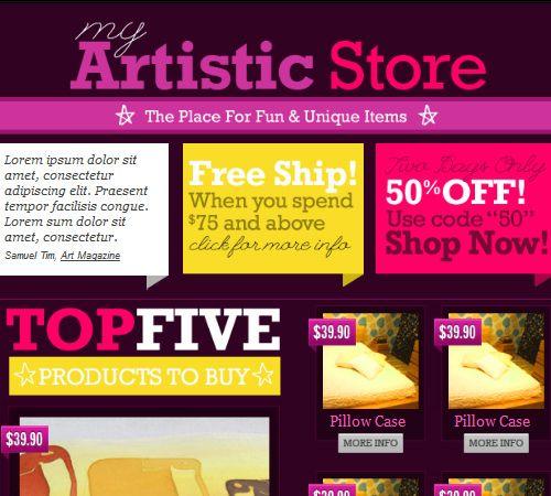 1000+ ιδέες για Template Email Html στο Pinterest Site vitrine - email newsletter template