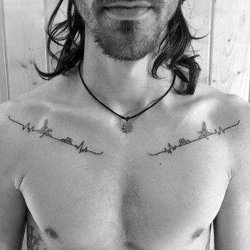 Singulares Tatuajes En La Clavicula Para Hombres Tatuajes Para