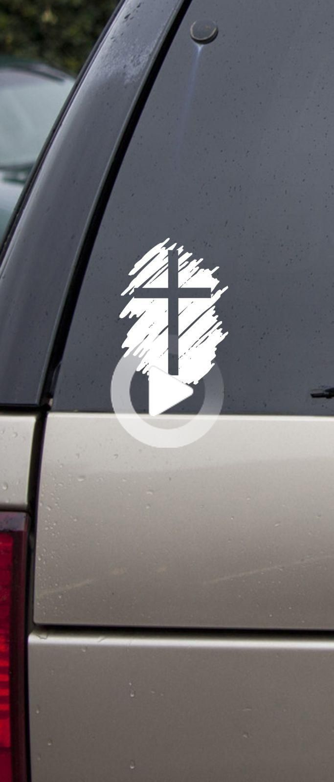 Cross Vinyl Decal Car Sticker Laptop Bible Lord Jesus Car Decals Vinyl Vinyl Decals Car Interior Accessories [ 1600 x 683 Pixel ]