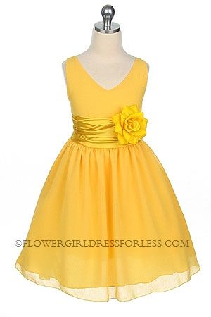 Don't know if you have the flower girl dresses already, but here's another adorable, bright yellow one!