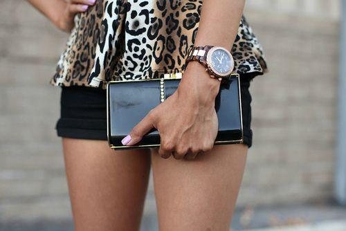 /: Black Shorts, Fashion Design, Design Handbags, Michael Kors Watches, Design Bags, Black Gold, Animal Prints, Leopards Prints, Cheetahs Prints