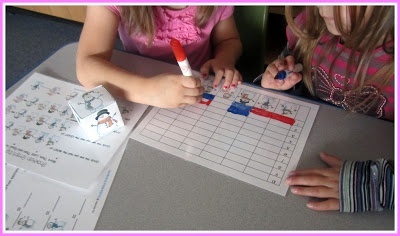 Roll & Graph games - my students love doing these for math stations!