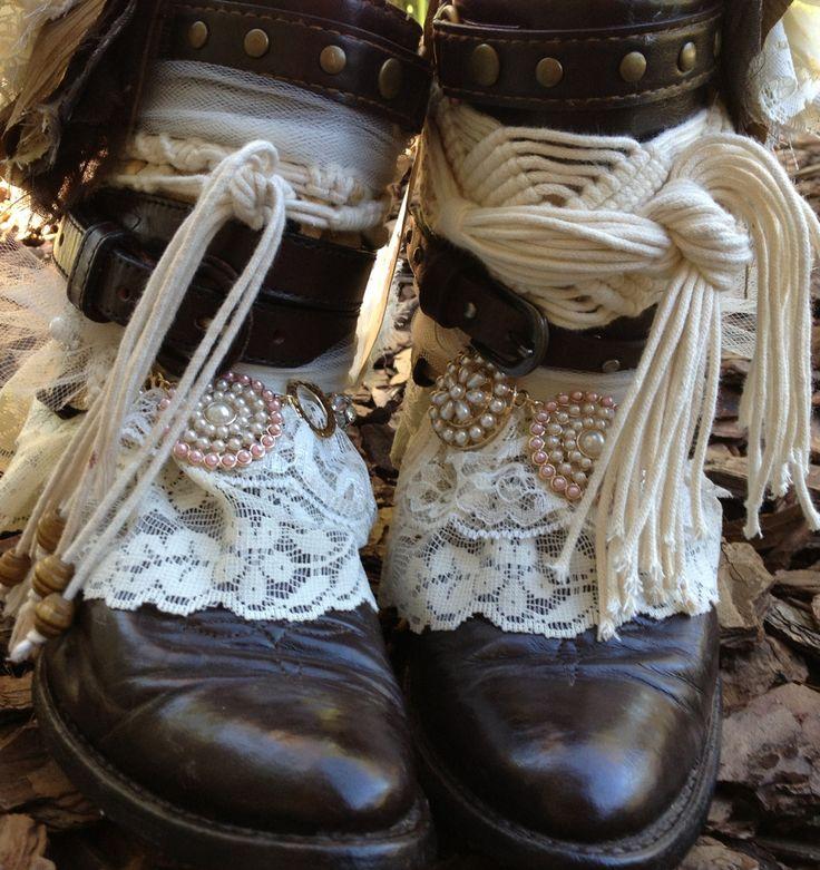 Boho Gypsy Cowgirl Boots, Custom Cowboy Boots. $195.00, via Etsy.