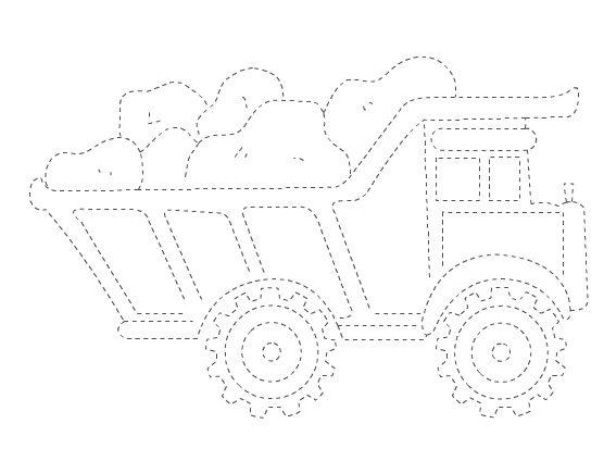 truck trace worksheet | Crafts and Worksheets for Preschool,Toddler and Kindergarten