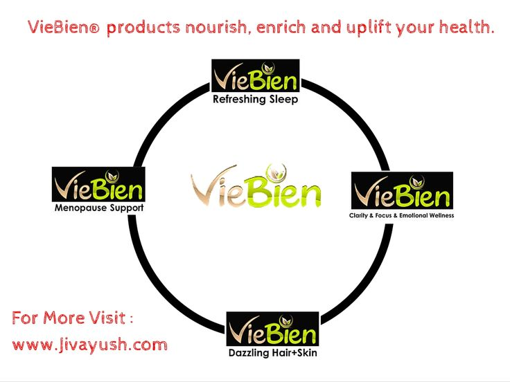 VieBien products are best for menopause support, all natural herbal sleep aid products, and skin, hair care products.