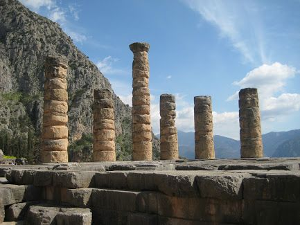 The Archaeological Site of Ancient Delphi (Δελφοί) -The grandeur of the Temple of Apollo and its remaining Doric columns is still evident despite the ravages of time. Συλλογές - Google+