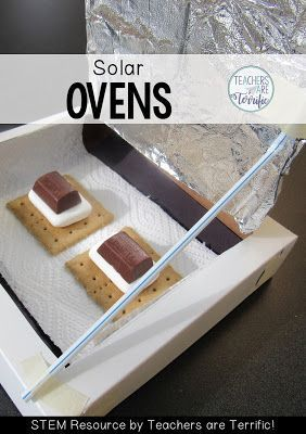 STEM Challenge: Build a solar oven, test it, and then try it out! Check this blog post for more!