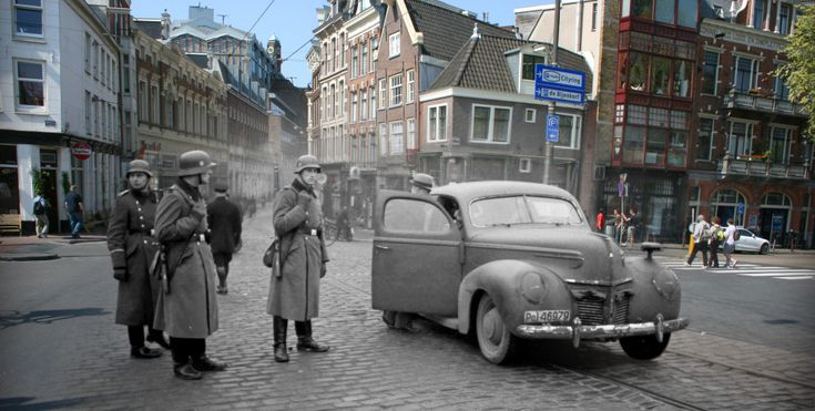 Then and now photos of Anne Frank's world. These images are from Anne Frank House in Amsterdam, where the past and present come together in a somewhat haunting photo series of World War II.