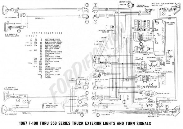 67 Mustang Turn Signal Switch Wiring Diagram in 2020