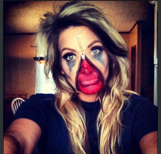 Zipper face SFX makeup By Lexi C. Miller #Halloween #Makeup #halloweenmakeup