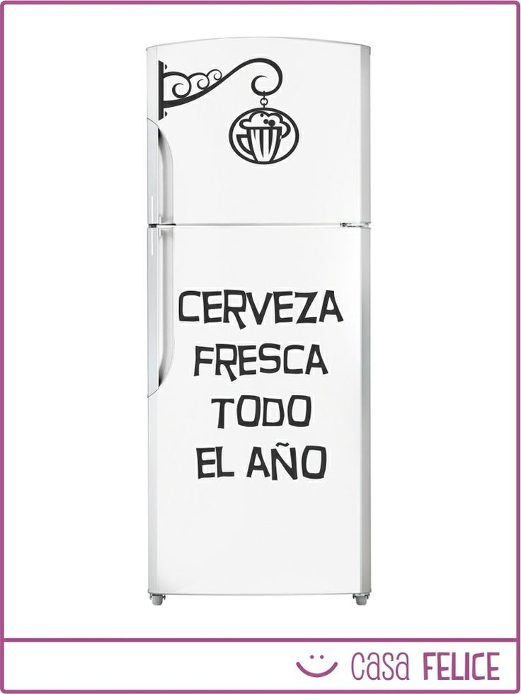 Ponele onda a tu heladera con los vinilos decorativos de Casa Felice! Precio y detalles del producto en http://tienda.casafelice.com.ar/cocina/heladera-fresca/