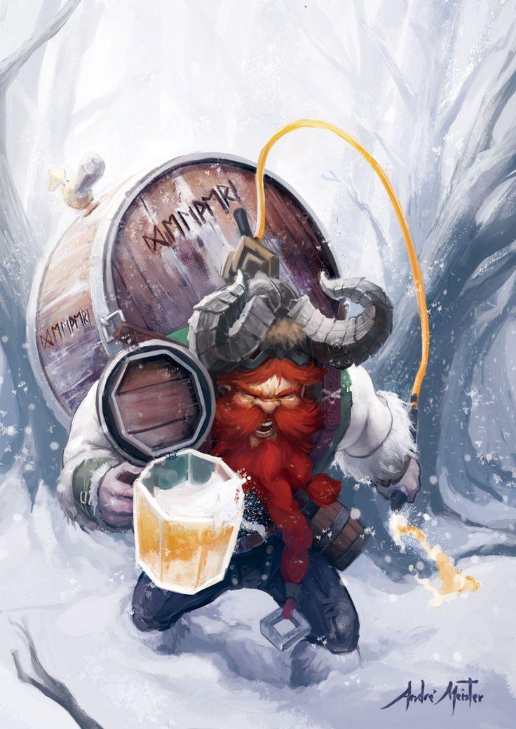 beer_delivery_dwarf_by_drehmeister-d5n19bc.jpg (752×1063)