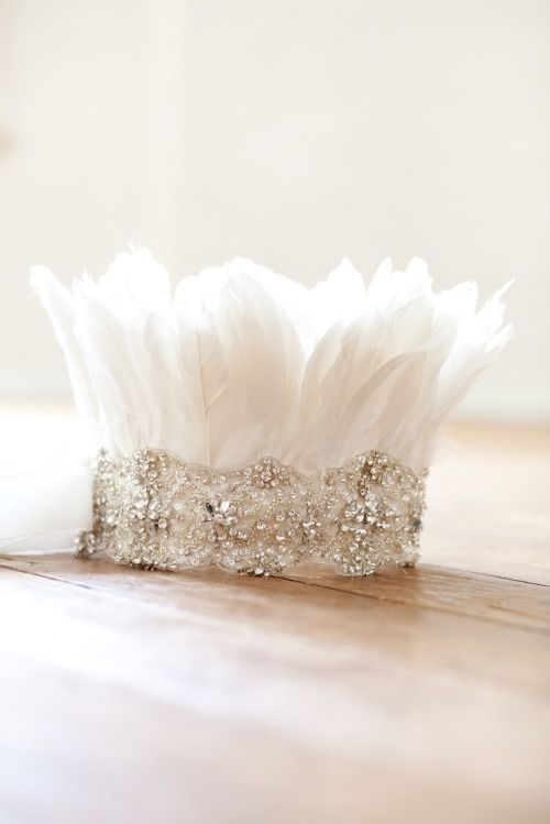 DIY Feather Tiara for your littlest princess.