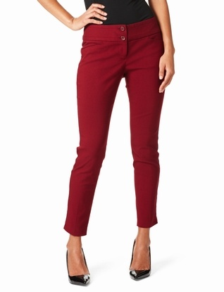 COLOR: Exact Stretch Edge-Waist Ankle Pants from The Limited