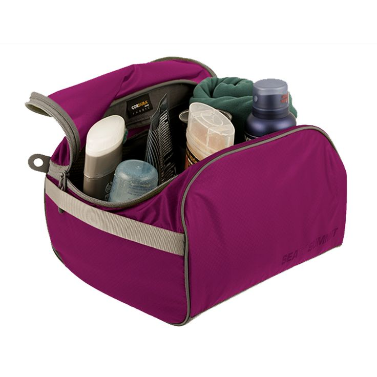 Sea to Summit Large Toiletry Cell: Berry - $34.95 #packingcell #luggageorganiser #packingorganiser