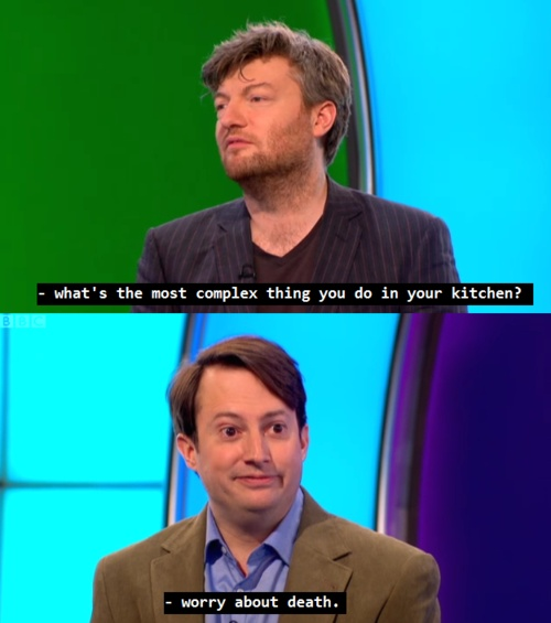 Two great men: Charlie Brooker & David Mitchell