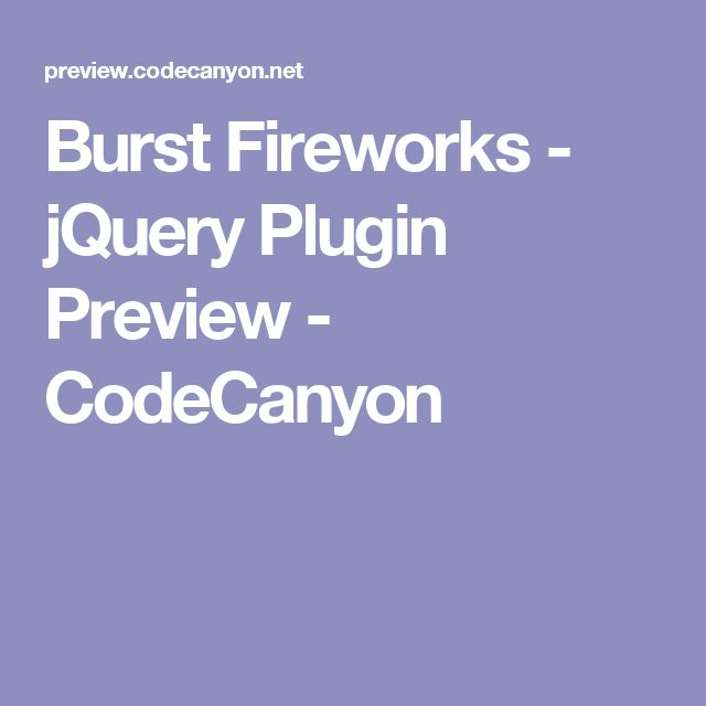 Burst Fireworks - jQuery Plugin Preview - CodeCanyon