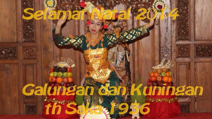 Selamat Natal, Galungan dan Kuningan. Společná oslava Vánoc ala Indonesi...