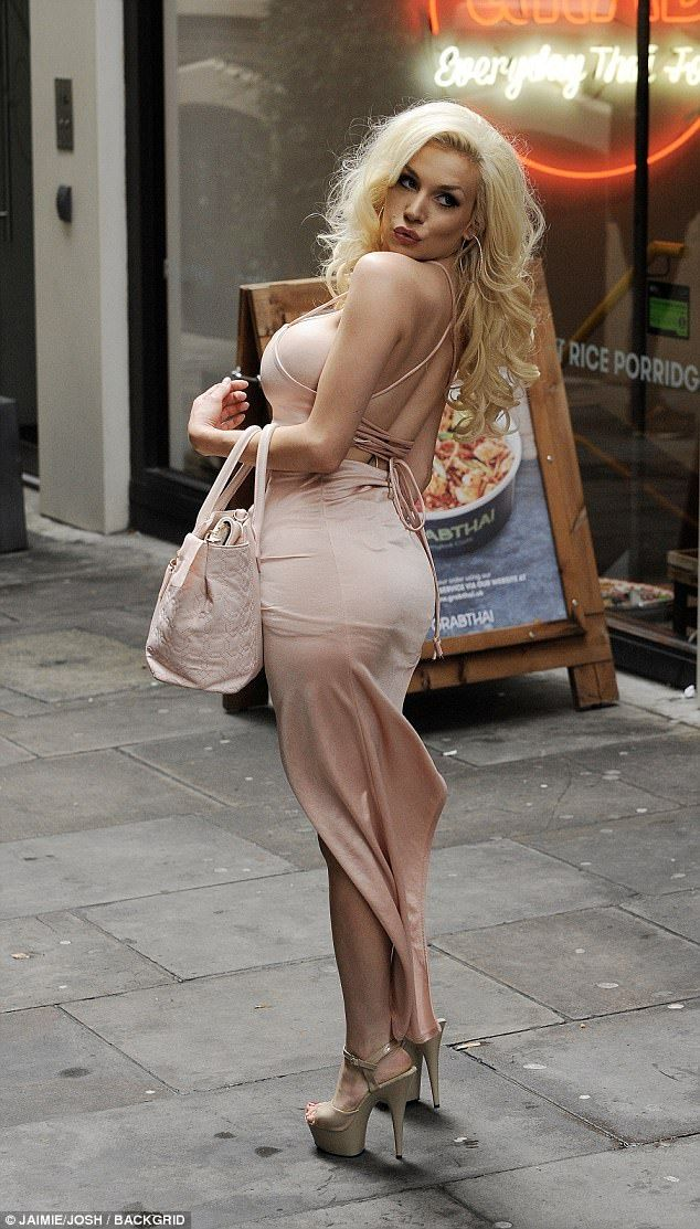 Glam! Perhaps not content with her date, she was soon spotted slipping into an outfit chan...Courtney Stodden