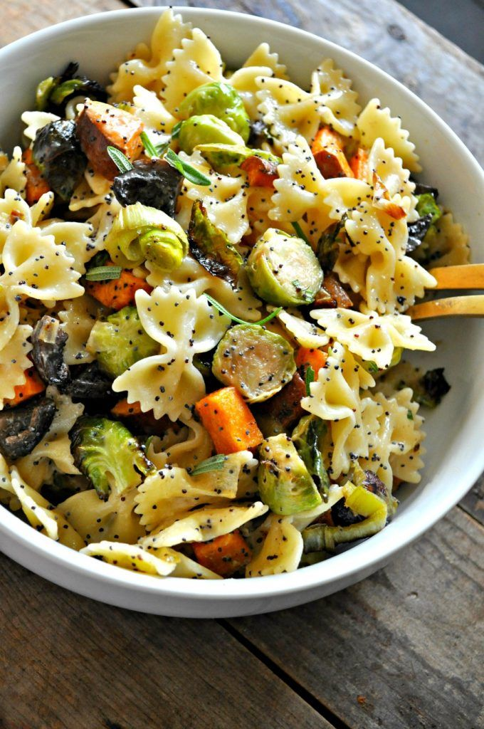 Vegan Fall Pasta Salad Recipe Fall Pasta Healthy Pastas Easy