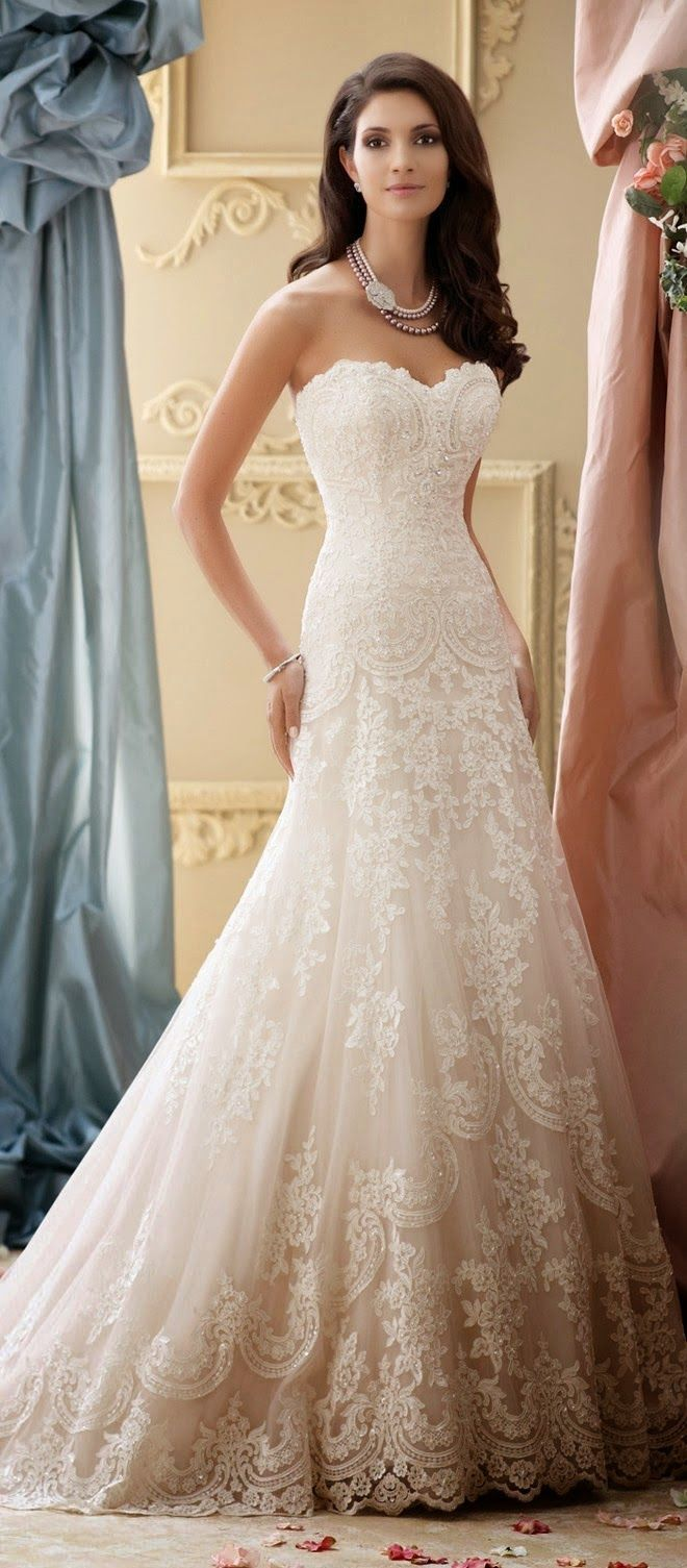 Best Wedding Dresses of 2014 | 3691 553 2 Denise Rogers Wedding Dresses and detailing I like Olya G @Evelina Pashchuk mine is similar to this one...