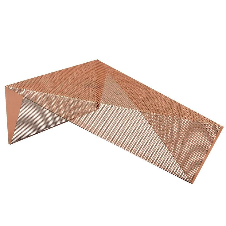 Triangular Perforated Metal Coffee Table