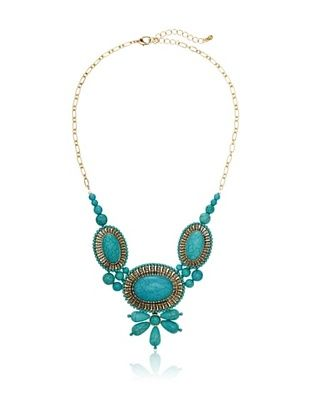 54% OFF Sparkling Sage Beaded Trio Statement Necklace