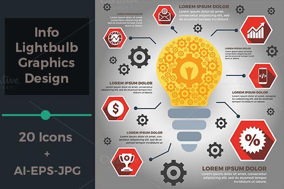 Info Lightbulb Graphics Design by tkent on @creativemarket