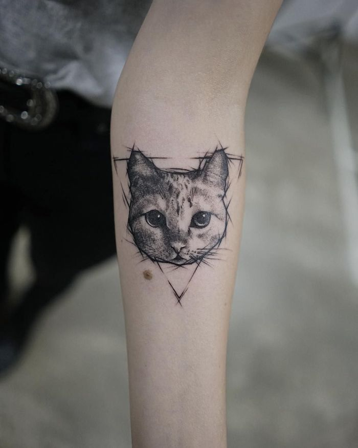 1001 Super Coole Arm Tattoos Auf Einen Blick Cat Tattoo