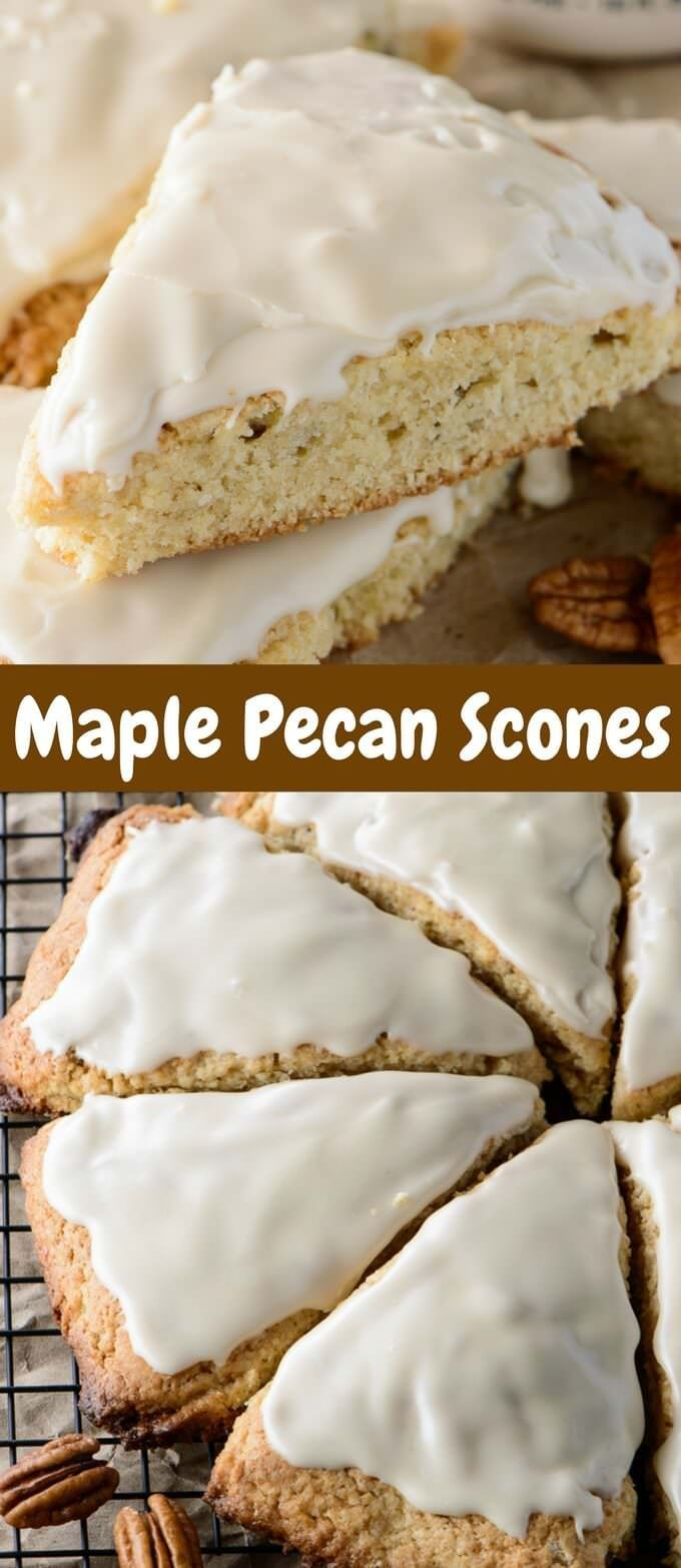 Whether you decide to serve these Glazed Maple Pecan Scones for ...