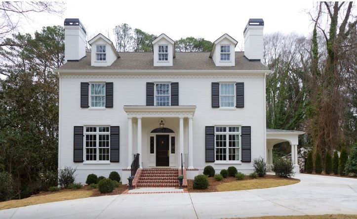 Brick In Benjamin Moore Ballet White And Shutters In Sherwin Williams  Attitude Gray | Architecture And Outdoor Spaces | Pinterest | Benjamin  Moore, ... Part 14