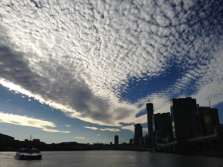 Amazing clouds over Brisbane.