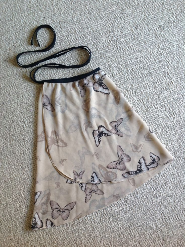 cream, black, neutrals butterfly print chiffon ballet wrap skirt. Made to order and fully customisable. Please see my Etsy shop or Facebook page for more details and a big choice of fabrics. https://www.etsy.com/uk/shop/FlicFlacDanceSkirts?ref=hdr_shop_menu