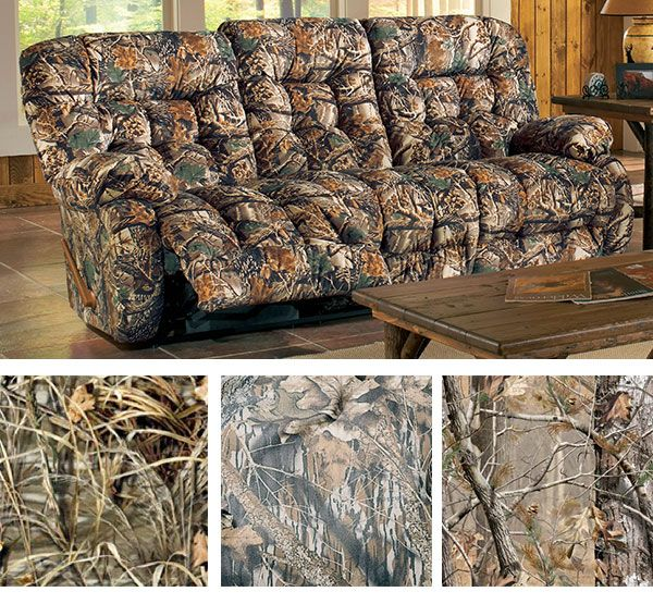 this camo sofa will add just the right outdoorsy touch to your room