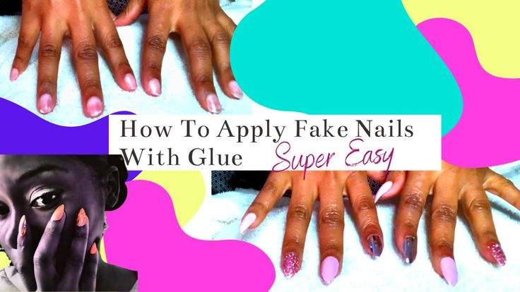 How to apply fake nails with glue at home by yourself