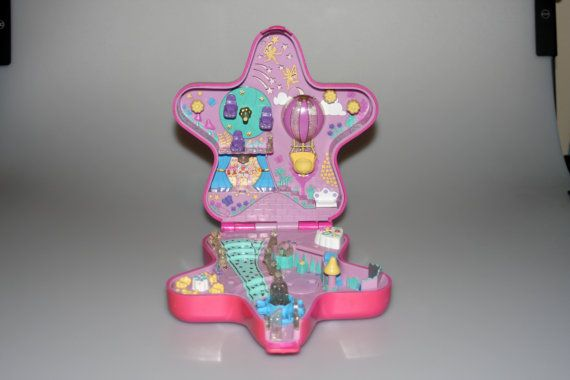Polly Pocket Fairylight Wonderland Fairy Collection Pink Large Star Bluebird Vintage 1993 by nodemo