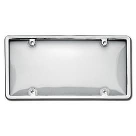 Cruiser Accessories 60310 Novelty / License Plate Combo Bubb - Chrome/Clear (Grey/Clear)