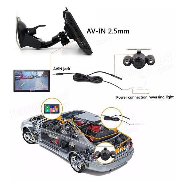 Junsun D100S 7 Inch Car 3D GPS Navigation Mointor Bluetooth w/Rear view Camera Free Map Tough Screen