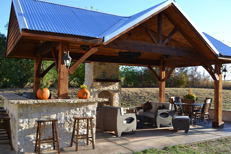 outdoor kitchen & living space | Outdoor living design ... on Outdoor Kitchen Living Spaces id=32285