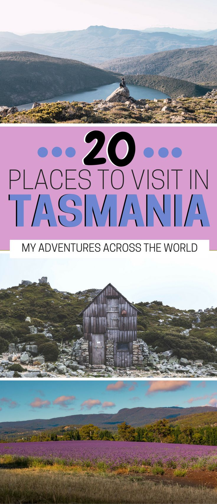 Tasmania is probably the most underrated destination in Australia! With stunning landscapes, breathtaking beaches, lavender fields and more, a Tasmania road trip will leave you speechless. Check out this ost for the 20 best things to do in Tasmania! | Tas