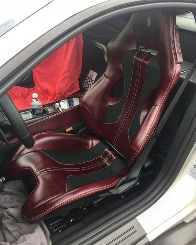Ferrari F12 Custom Interior Its All About The Patina Vintage Bordeaux On This