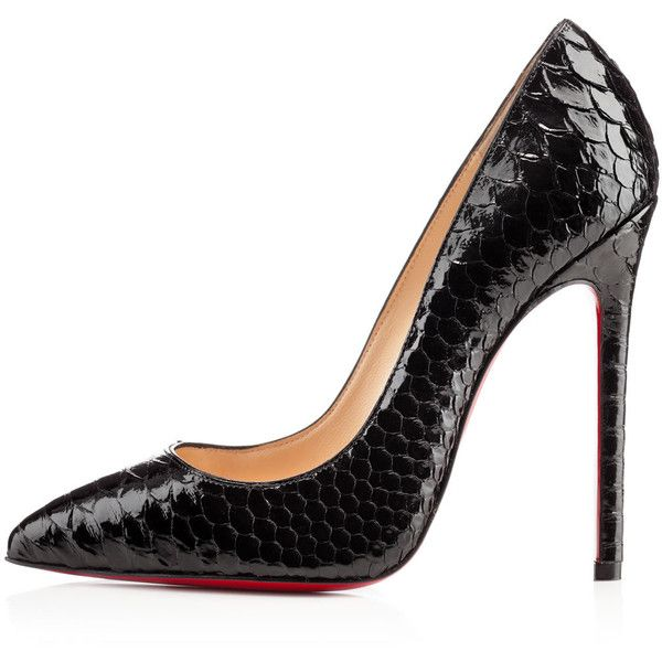 Christian Louboutin Pigalle ($1,345) ❤ liked on Polyvore featuring shoes, pumps, heels, sapatos, christian louboutin, black pointed-toe pumps, heels & pumps, christian louboutin stilettos, pointed-toe pumps and black stiletto pumps