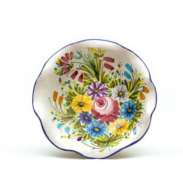 Ciotolina in ceramica con bordo smerlato Fioraccio - Liberati