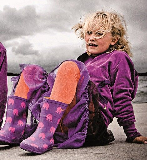 CeLaVi rubber boots with pink elephants - available at Lillahopp online shop
