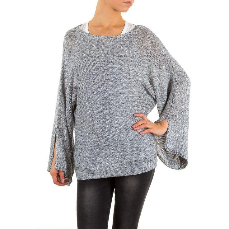Lässiger Damen Fledermaus Strickpullover. Dieses tolle Basic kann wunderbar mit Jeans kombiniert werden.
