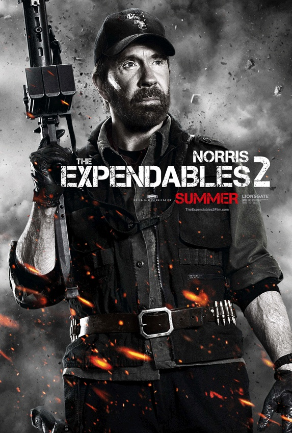 chuck !! The expendables, Chuck norris, Jackie chan