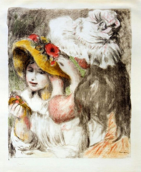 The Hatpin by Pierre-Auguste Renoir   Size: 48.4x60 cm Medium: lithography