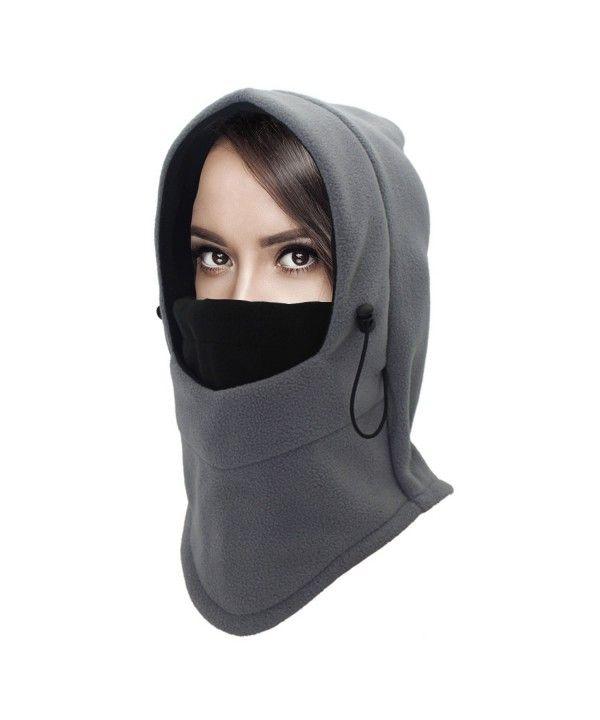 Heavyweight Balaclava Ski Face Mask Fleece Hood Men Women Kids Windproof  Grey+black CJ189TR0ZN5 | Hat fashion, Fashion, Autumn fashion women